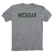 New Agenda University of Michigan Gray Mock Twist Tee