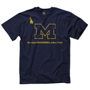New Agenda University of Michigan Navy Wolverines In New York Tee