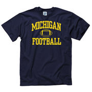 New Agenda University of Michigan Football Navy Shout Tee