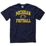 University of Michigan Football Navy Shout Tee