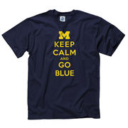 New Agenda University of Michigan Navy Keep Calm and Go Blue Tee