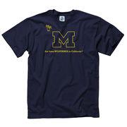 New Agenda University of Michigan Navy Wolverines in S. California Tee