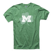 New Agenda University of Michigan Heather Green 'Lucky Logo' Tee