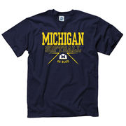New Agenda University of Michigan Softball Navy Boxed In Tee