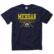 New Agenda University of Michigan Baseball Navy Boxed In Tee