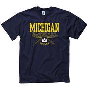 University of Michigan Baseball Navy Boxed In Tee