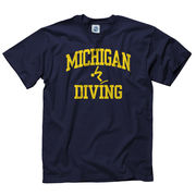 University of Michigan Diving Navy Sport Tee