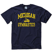 New Agenda University of Michigan Gymnastics Navy Sport Tee
