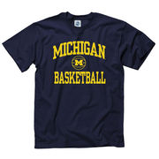 New Agenda University of Michigan Basketball Navy Graphic Tee
