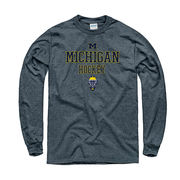 New Agenda University of Michigan Hockey Charcoal Gray Long Sleeve Tee