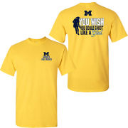 University of Michigan Field Hockey ''Shoot Like A Girl'' Yellow Tee