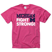 New Agenda University of Michigan Breast Cancer Awareness Pink Ribbon Tee