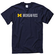 University of Michigan Ross School of Business Navy Tee