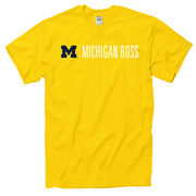 University of Michigan Ross School of Business Yellow Tee