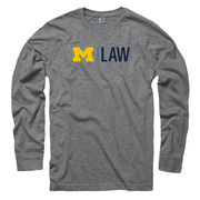 University of Michigan Law School Heather Gray Long Sleeve Tee