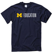 University of Michigan School of Education Navy Tee