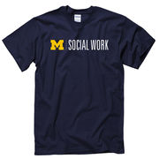 University of Michigan School of Social Work Navy Tee