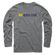 University of Michigan Medical School Gray Long Sleeve Tee
