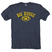 New Agenda University of Michigan Heather Navy Triblend Big House Tee