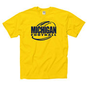 New Agenda University of Michigan Football Yellow Outline Tee