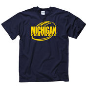 New Agenda University of Michigan Football Navy Outline Tee
