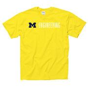 University of Michigan Engineering Yellow Tee