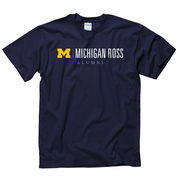 University of Michigan Ross School of Business Alumni Navy Tee