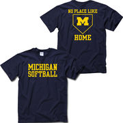 University of Michigan Softball ''No Place Like Home'' Navy Tee