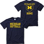 University of Michigan Softball ''No Place Like Home'' Navy Tee