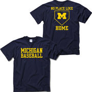 New Agenda University of Michigan Baseball 'No Place Like Home' Navy Tee
