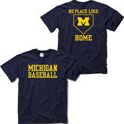 University of Michigan Baseball ''No Place Like Home'' Navy Tee