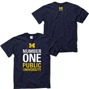 New Agenda University of Michigan ''Number One Public University'' Navy Tee