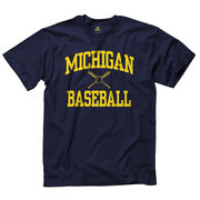 New Agenda University of Michigan Baseball Navy Sport Tee