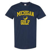 New Agenda University of Michigan Golf Navy Sport Tee