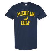 University of Michigan Golf Navy Sport Tee
