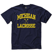 New Agenda University of Michigan Lacrosse Navy Sport Tee