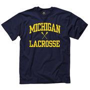 University of Michigan Lacrosse Navy Sport Tee