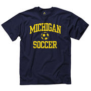 University of Michigan Soccer Navy Sport Tee