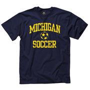 University of Michigan Soccer Navy Sport Tee