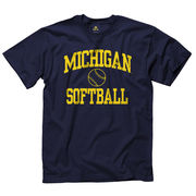 New Agenda University of Michigan Softball Navy Sport Tee