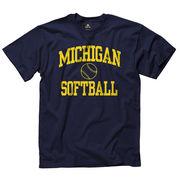University of Michigan Softball Navy Sport Tee