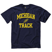 New Agenda University of Michigan Track Navy Sport Tee