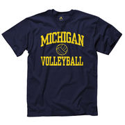 University of Michigan Volleyball Navy Sport Tee