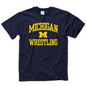 New Agenda University of Michigan Wrestling Navy Sport Tee