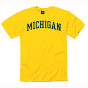 New Agenda University of Michigan Youth Yellow Basic Tee
