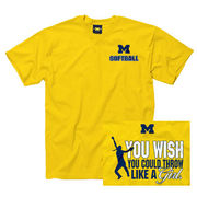 New Agenda University of Michigan Softball You Wish You Could Throw Tee