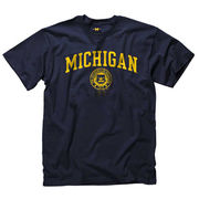 New Agenda University of Michigan Navy Basic Seal Tee