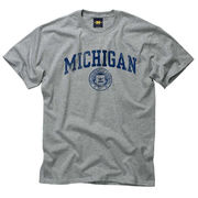 New Agenda University of Michigan Gray Seal Tee