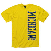 University of Michigan Yellow Vertical Tee