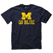 University of Michigan Navy M GO BLUE Tee